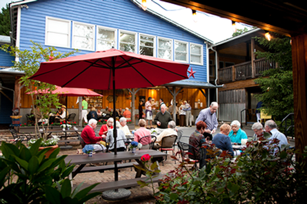 Guests enjoying a late afternoon meal at Hubba Hubba Smokehouse. Click to view the menu.