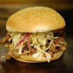 Get your hands around this pork sandwich at Hubba Hubba Smokehouse