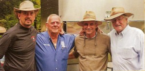 Starr Teel with the Legends of BBQ: Tommy Houston, Mike Mills and Jim Tabb
