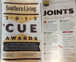 Hubba Hubba Smokehouse Runner-up in Southern Living's 2013 'Cue Awards