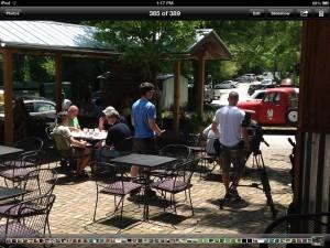 BBQ Pitmasters Crew Outside Hubba Hubba Smokehouse Flat Rock NC