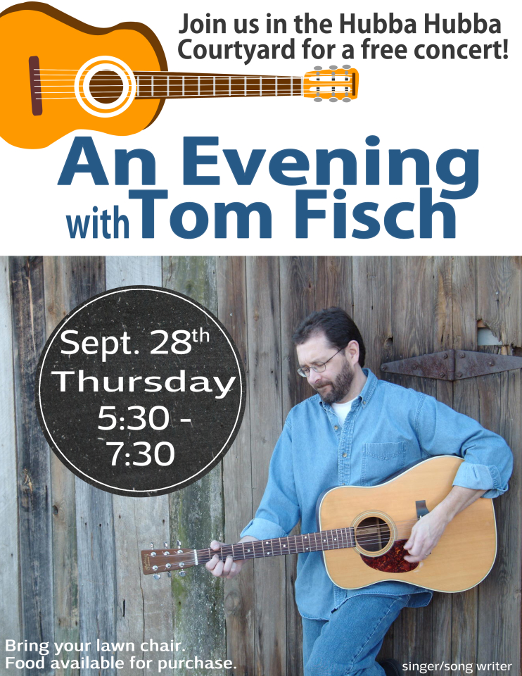 An Evening with Tom Fisch Sept 28 5:30 - 7:30