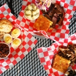 Brisket chicken and Pork Plates