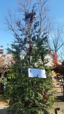 Donate an ornament, get a free piece of cornbread or a biscuit. Tree will be autctioned off on 12/17