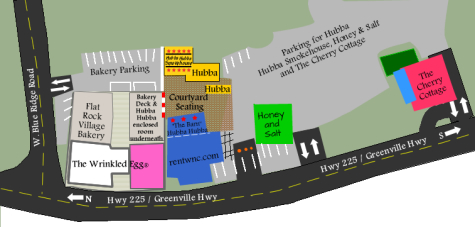 map of buildings on Little Rainbow Row